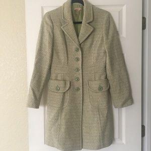 Olive Green Tweed Peacoat